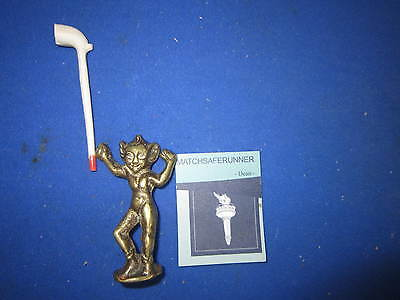 BRASS RISQUE NUDE DEVIL BOY IMP PIPE TAMPER / PIPE STOPPER -  LARGE COLLECTION
