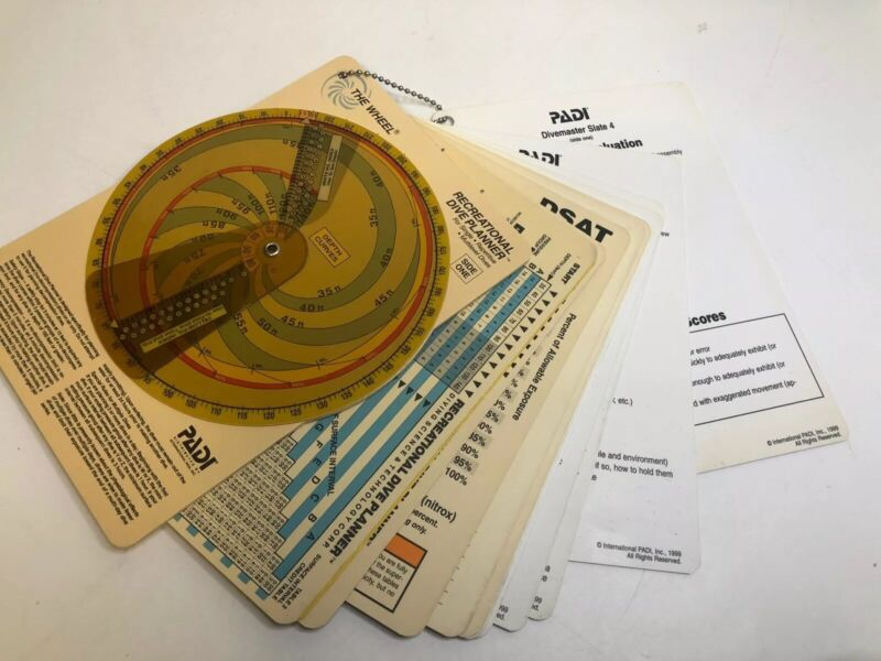 Padi Divemaster Slates Dive Planner The Wheel Planning Vintage Instructions