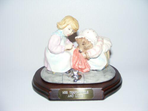 Beswick Beatrix Potter figurine tableau MRS. TIGGY-WINKLE and LUCIE lmt ed