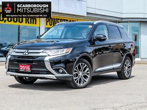 2016 Mitsubishi Outlander GT S-awc leather seats sunroof pwr gro