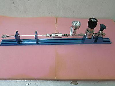 Kinetics Gas Line, APtech AP1010SM, Ametek gauge, Pall Filter, bent gas line