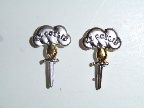 B8815p WW2 Canadian Parachute Paratrooper Collar badges Ex Coelis Canada IR17B