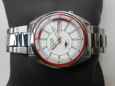 EXCELLENT VINTAGE JAPAN MADE SS MILITARY STYLE CITIZEN MENS AUTOMATIC WRISTWATCH