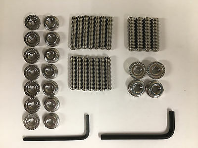 Small Block Chevy Stainless Steel Oil Pan Stud Kit and Wrenchs 1.25