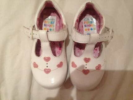 Clark's First Shoes -White Patent Leather UK Size 5 Fit F Grange Brisbane North West Preview