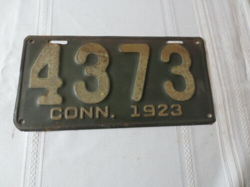 1923 CONNECTICUT LICENSE PLATE 4373