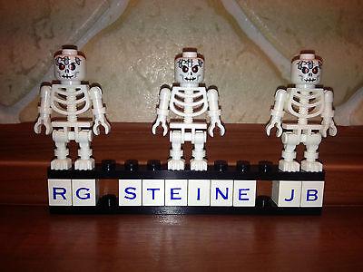 Lego Figur 3x Skelett Skelette rote Augen Figuren  Halloween Monster Neu W64