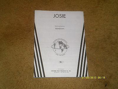 Donovan sheet music JOSIE '65 4 pages (VG+ shape)