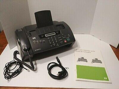 Hp Hewlett-packard 1040 Inkjet Fax Machine Phone Copier Gray Tested And Working