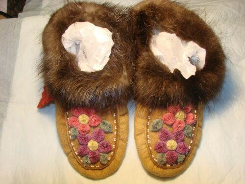 Beautiful Moccasins - Moose or Caribou Hair