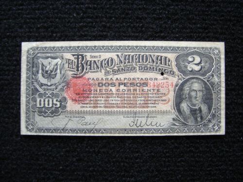 Dominican Republic PS-132a 1888 2 Pesos F-VF
