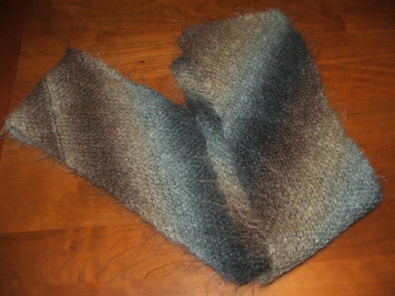 Women's handmade winter scarf, wool blend