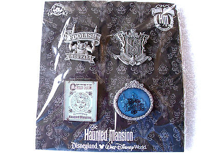 Disney * HAUNTED MANSION * 4 pins New in Pack Booster Pin Set