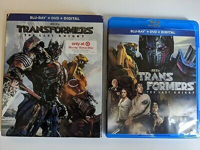 Transformers The Last Knight Blu-Ray + DVD TARGET Exclusive w/ COMBINER WARS