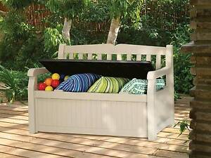 Plastic Garden Bench Seat / Storage - CHRISTMAS SPECIALS! Archerfield Brisbane South West Preview