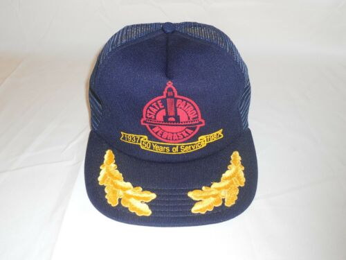 Rare Vintage New 1987 Police Nebraska State Patrol 50th Anniversary Snapback Cap