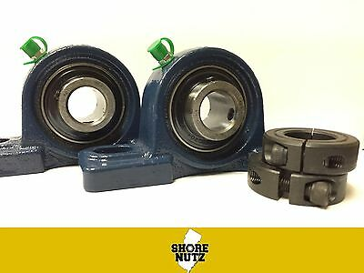 2pcs 1 Pillow Block Bearing Ucp205-16 Solid Base P205 1 Split Collars