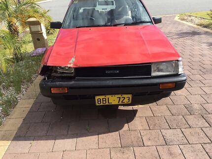 1985 corolla wreck