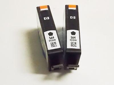 2pack HP 564 Black Ink Cartridges NEW GENUINE
