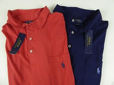 Polo Ralph Lauren SS Soft Touch 100% Cotton Polo Shirt w Chest Pocket & Pony NWT