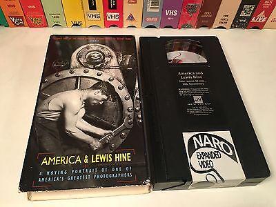 America   Lewis Hine Rare Bio Documentary Vhs 1984 Photography Art History