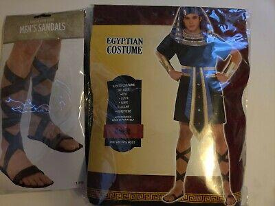 Mens Egyptian King Pharaoh Ancient Egypt Greek God Fancy Dress Costume Adult
