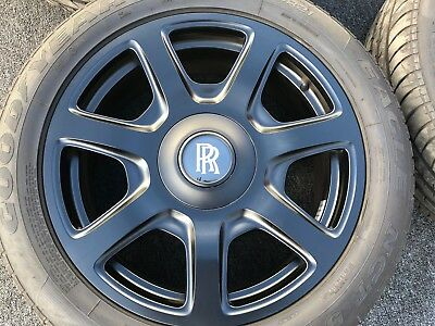4 GENUINE ROLLS ROYCE PHANTOM DROPHEAD 21 INCH WHEELS TIRES RIMS OEM FACTORY