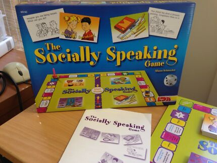 Childrens social skills board game: The Socially Speaking Game