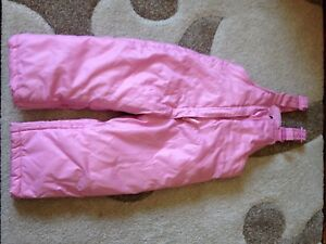 Pink snow pants - size 12m