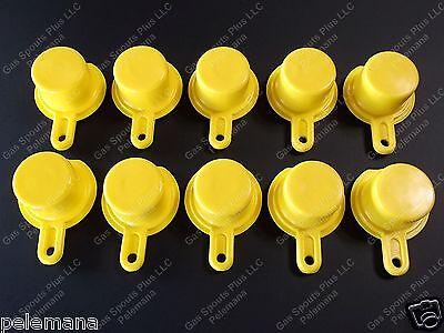 10-pk Blitz Yellow Spout Caps Mr Yellow Cap Blow Out Sale 900092 900094 900302