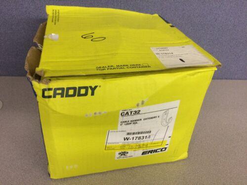 "BOX of 60 NEW Caddy Erico CAT32 2"" Diameter Cable Hanger Hook Cat5 Cat6"