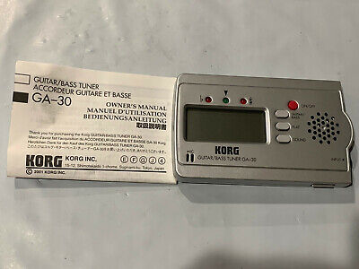 Korg Guitar/Bass Instrument Tuner GA-30 With Instructions - Battery Operated