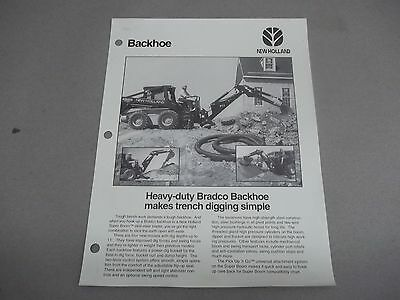 New Hollandford Sales Sheet 40860911md26 Heavy Duty Bradco Backhoes