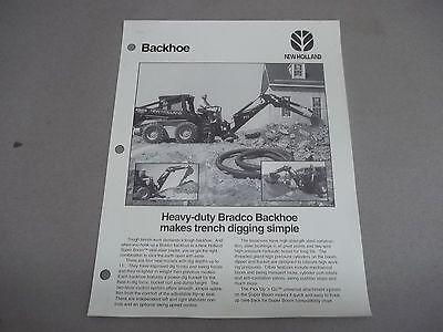 New Hollandford Sales Sheet 40860911md26 Heavy Duty Bradco Backhoes