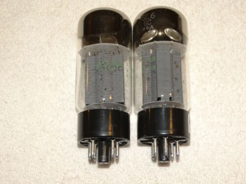 2 x Phillips ECG 6L6GC STR-387 Tubes*Ruggedized*Very Strong Matched Bogie+ Pair*