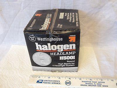 Head light lamp, for 4 light system, high beam, round, NOS.  Item:  3273