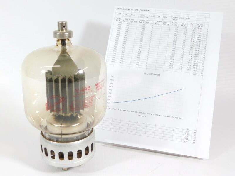 Eimac Y448 Pulse-Rated 4-1000A Transmitting Tube (low output, with test report)