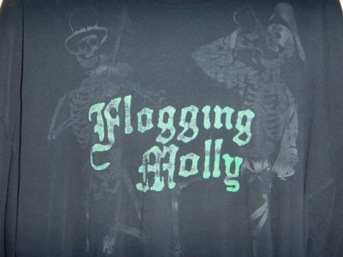 3XL FLOGGING MOLLY 1 SIDED T-SHIRT USED 2009
