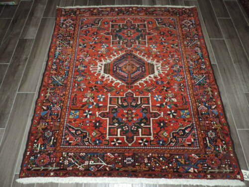 5x6ft. Antique Handmade Karaje Wool Rug
