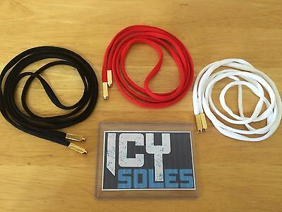 Yeezy Shoelaces with Metal Aglet Tips for Jordans and Nike, Fast Shipping!