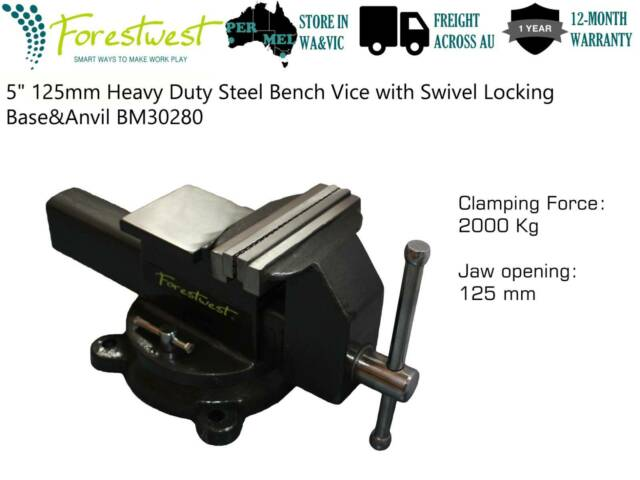 Sensational 5Quot Steel Bench Vice Clamp With Swivel Base Anvil Pabps2019 Chair Design Images Pabps2019Com