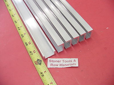 6 Pieces 1x 12 Aluminum Channel 6063 X 18 Wall 48 Long T52 Mill Stock 24