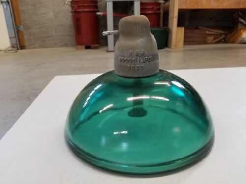 GREEN GLASS SUSPENSION BELL 10 INCH INSULATOR (SINGLE)