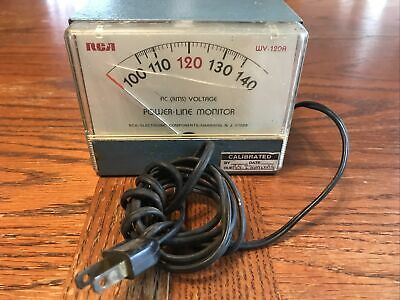 Rca Model Wv-120a Power Line Monitor Ac Rms Voltage