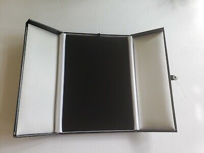 Necklace Display Boxes Black Faux Leather Snap-tab Gift Box
