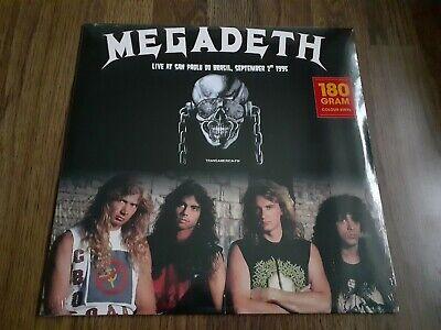 MEGADETH - LIVE AT SAN PAOLO BRAZIL 1995 180g LP WHITE VINYL...