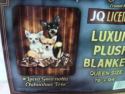CHIHUAHUA TRIO DOG DOGS QUEEN SIZE BLANKET BEDSPREAD