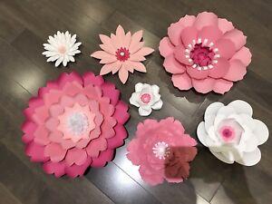 Giant Paper Flowers for Nursery Decor