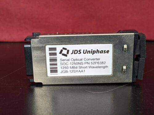 JDSU Serial Optical Converter SOC-1250NS PN 52P6382 1250 MBd Short Wavelength