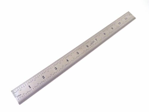 """Igaging 12"""" Stainless Steel Machinist 4R Ruler/Rule Scale 1/8, 1/16, 1/32/ 1/64"""
